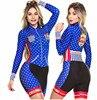 Terno de triathlon profissional, camiseta de ciclismo preta feminina, macacão, manga longa em gel, conjunto de ciclismo, 2019 7