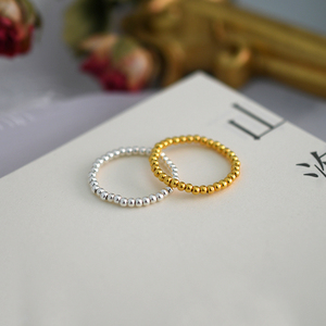 Image 4 - ASHIQI Fashion 3 4mm Mini Small Natural Freshwater Pearl Couple Rings for Women Real 925 Sterling Silver Jewelry for Women Gift