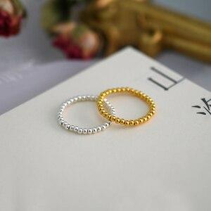 Image 4 - Ashiqi Mode 3 4Mm Mini Kleine Natuurlijke Zoetwater Parel Paar Ringen Voor Vrouwen Echt 925 Sterling Zilveren Sieraden voor Vrouwen Gift