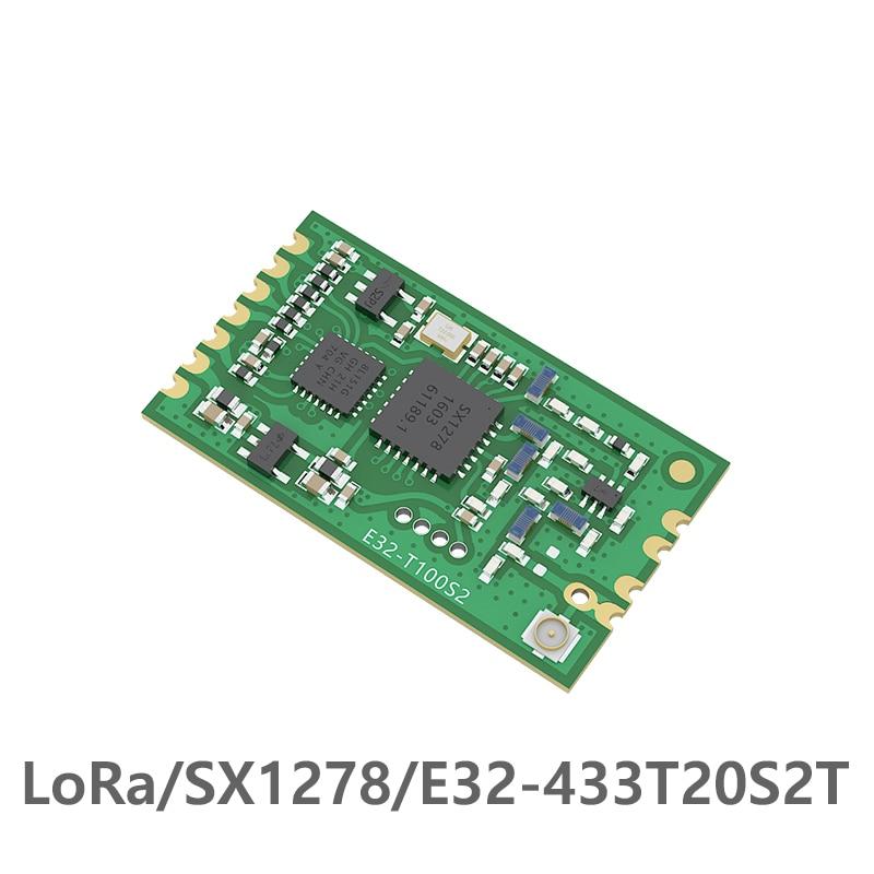E32-433T20S2T SX1278 module RF LoRa IOT UART FEC 433MHz 20dBm 100mW IPEX Antenna SMD Wireless Transmitter Receiver module