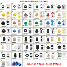Free Shipping 10sets/440pcs fuel injector pintle caps for Japanese car repair kits