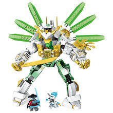 NEW 2019 NINJA Series Lloyd's Titan Mech Robot Building Blocks Bricks Model Kids City Classic Toys Compatible Marvel Movie mackie reach