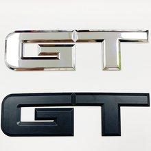 Alta qualidade 3d metal lados traseiros do carro fender tronco decalques gt logotipo emblemas emblema etiqueta para ford mustang ecobost 5.0 l v8 gt
