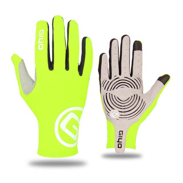 Giyo luvas duras em gel para ciclismo, funciona em touch screen, de dedos completos, para bicicleta de estrada, mtb, masculina e feminina luvas, luvas 5