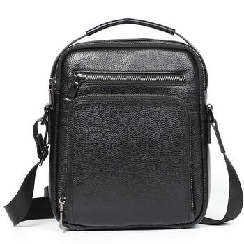 Men's leather business Shoulder Bag Handbag New Leather Men's top layer leather men's slant cross bag business leisure