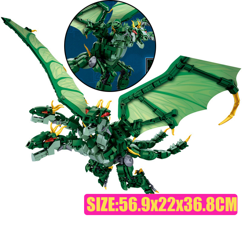 Sluban M38-B0783/B0785/B0786 King of The Monsters Godzilla Ghidorah Rodan Building Blocks 33