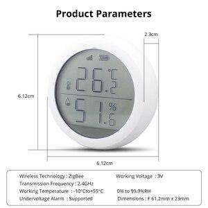 Image 5 - Tuya Zigbee Temperatur und Feuchtigkeit Sensor mit LCD Screen Display Mit batterie Home automation szene sicherheit alarm sensor