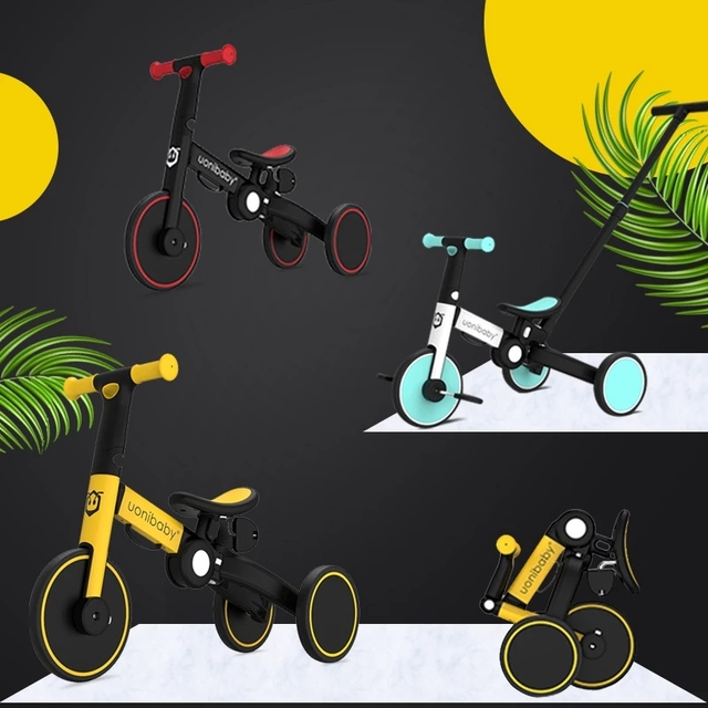 3 In 1 Baby Bicycle Children's Balance Bike Foldable Tricycle for Kids Folding Infant Stroller Trike Toddler Scooter Child Cart