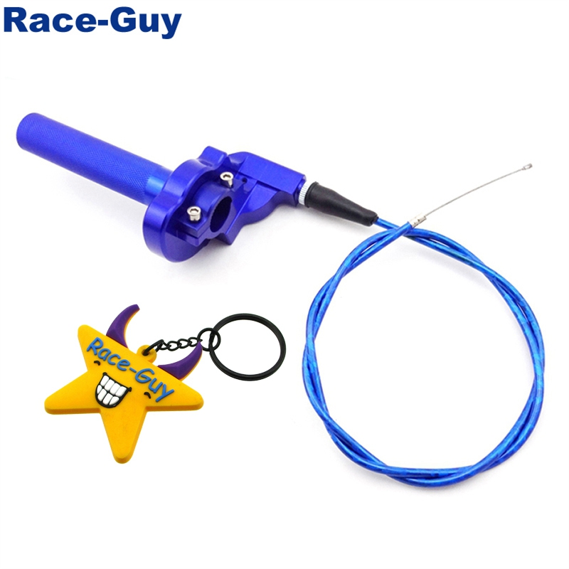 Синий сплав Поворотный дроссельной заслонки ручка в сборе для XR50 CRF50 KLX110 TTR SSR Pro Thumpstar Мотокросс Pit Dirt Trail Bike