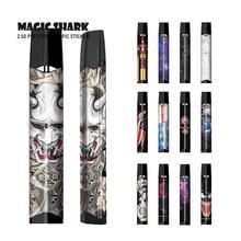 цена на Magic Shark Joker Venum Iron Man Batman Star Sky Stone Print Full Wrap Film Vape Cover Case Pod Sticker for Smok Infinix 2