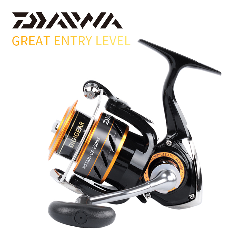 100% Original DAIWA MISSION CS Spinning fishing reel 2000S 2500S 3000S 4000S Gear Ratio5.3:1 3+1BB DRAG POWER 2~6KG fishing reel
