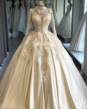 Vestidos De Novia 2020 Luxurious Wedding Dresses Floor Length Lace Ball Gown Custom Made Bridal Gowns Mariage Bride Dresses