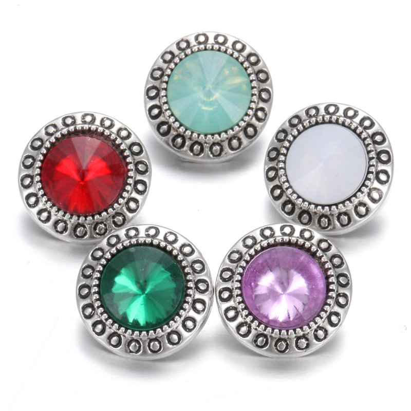 10pcs/lot New Arrival <font><b>Snap</b></font> <font><b>Button</b></font> Jewelry 12mm Vintage Round Birthstone 12mm <font><b>Snap</b></font> <font><b>Buttons</b></font> Bracelets <font><b>Necklace</b></font> <font><b>12</b></font> <font><b>Mm</b></font> <font><b>Snaps</b></font> Jewelry image