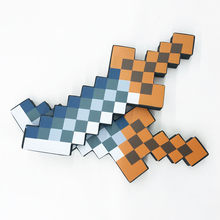 Minecraftdcsz Blue Diamond Sword Soft EVA Foam Toys Sword Gray Pickaxe for Children Toys Kids Crafts Foam Sheets for Kids Crafts(China)