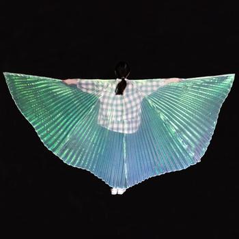 Skrzydła tańca brzucha dla dzieci skrzydła Isis Bollywood orientalne egipskie skrzydła egipskie kostiumy dla dzieci akcesoria do wydajności bez kija tanie i dobre opinie YI NA SHENG WU Dziewczyny YLEW1002 Taniec brzucha Poliester spandex NYLON