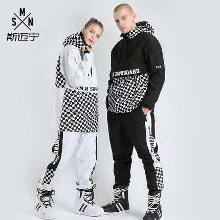 SMN Brand Women Men Ski Suit Snowboard Jacket Pant Skiing Clothing Trouser Unisex Winter Suit Windproof Waterproof Super Warm