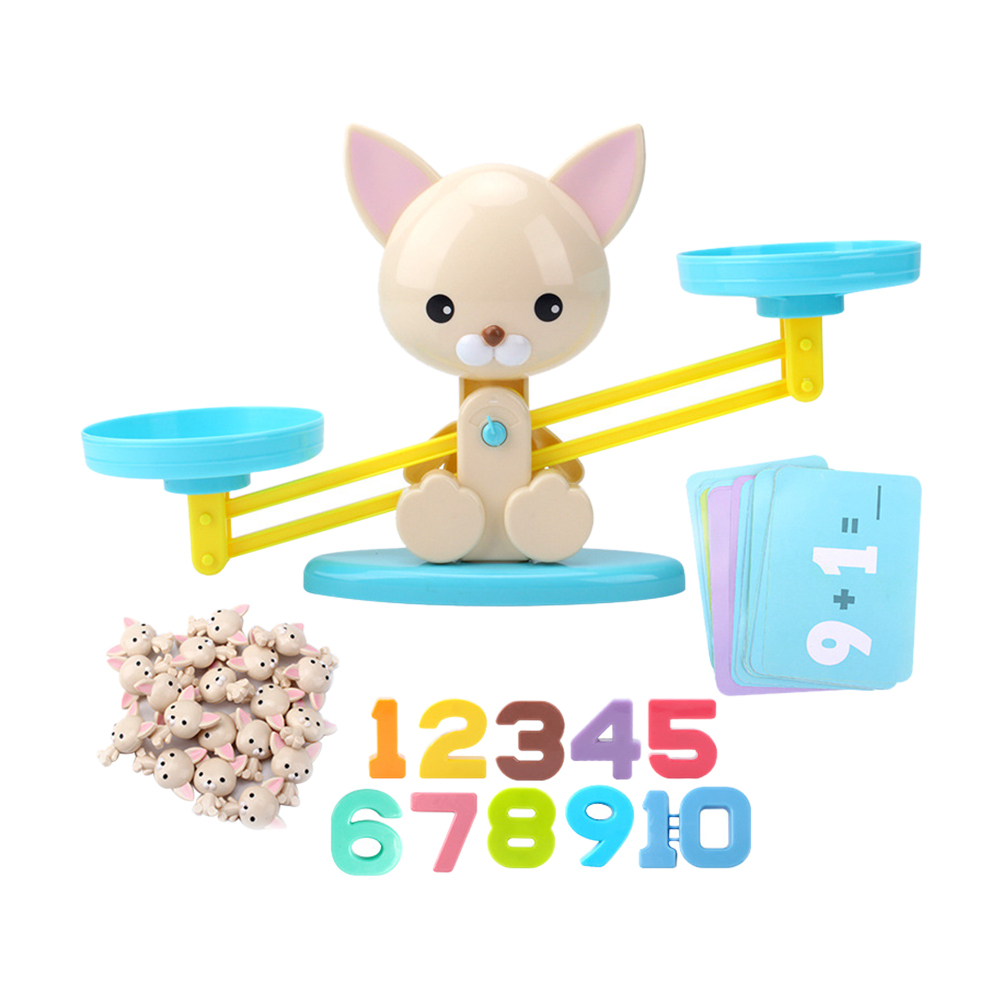Puzzle Balance Digital Puppy Pig Child Addition And Subtraction Arithmetic Learning Kindergarten Teaching Toy Balance Scale
