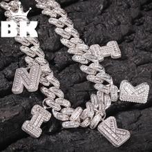 Collar de eslabones MiamiCuban de circonia cúbica de 13mm, chapado en oro y plata, cobre de lujo, Micro pavimentada, cadena de unión cubana