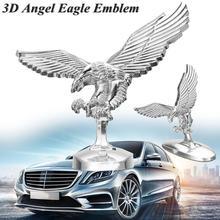 1PC Car Front Hood Eagle Ornament Badge Auto Cover 3D Emblem Modification Accessories Exterior Decoration