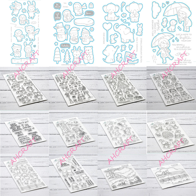 Hello Bluebird Clear Stamps And Metal Cutting Dies For Diy Scrapbooking Photo Album Decorative Embossing PaperCard Crafts 2020