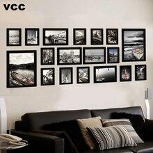 18 pièces/ensemble cadres Photo en bois pour tenture murale, cadre Photo mur avec photos cadre en bois classique pour la décoration de la maison
