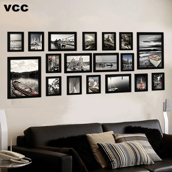 18Pcs/Set Wood Picture Frames For Wall Hanging, Photo Frame Wall With Pictures Classic Wooden Frame For Home Decoration