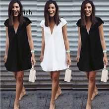 Короткое мини черное платье Новое Сексуальное Женское летнее