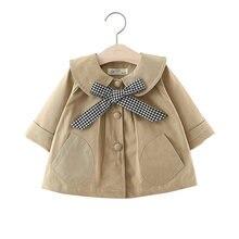 Модная Новая ветровка для новорожденных Детское пальто клетчатая