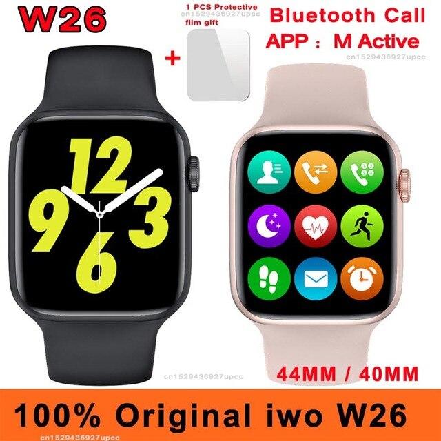 40MM 44MM Original iwo W26 Smart Watch Dial Bluetooth Call IP68 Waterproof Body Temperature ECG Heart Rate Monitor Smartwatch 1