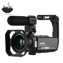 4K Camcorder IR Night Vision With Wide Angle Lens Vlogging V