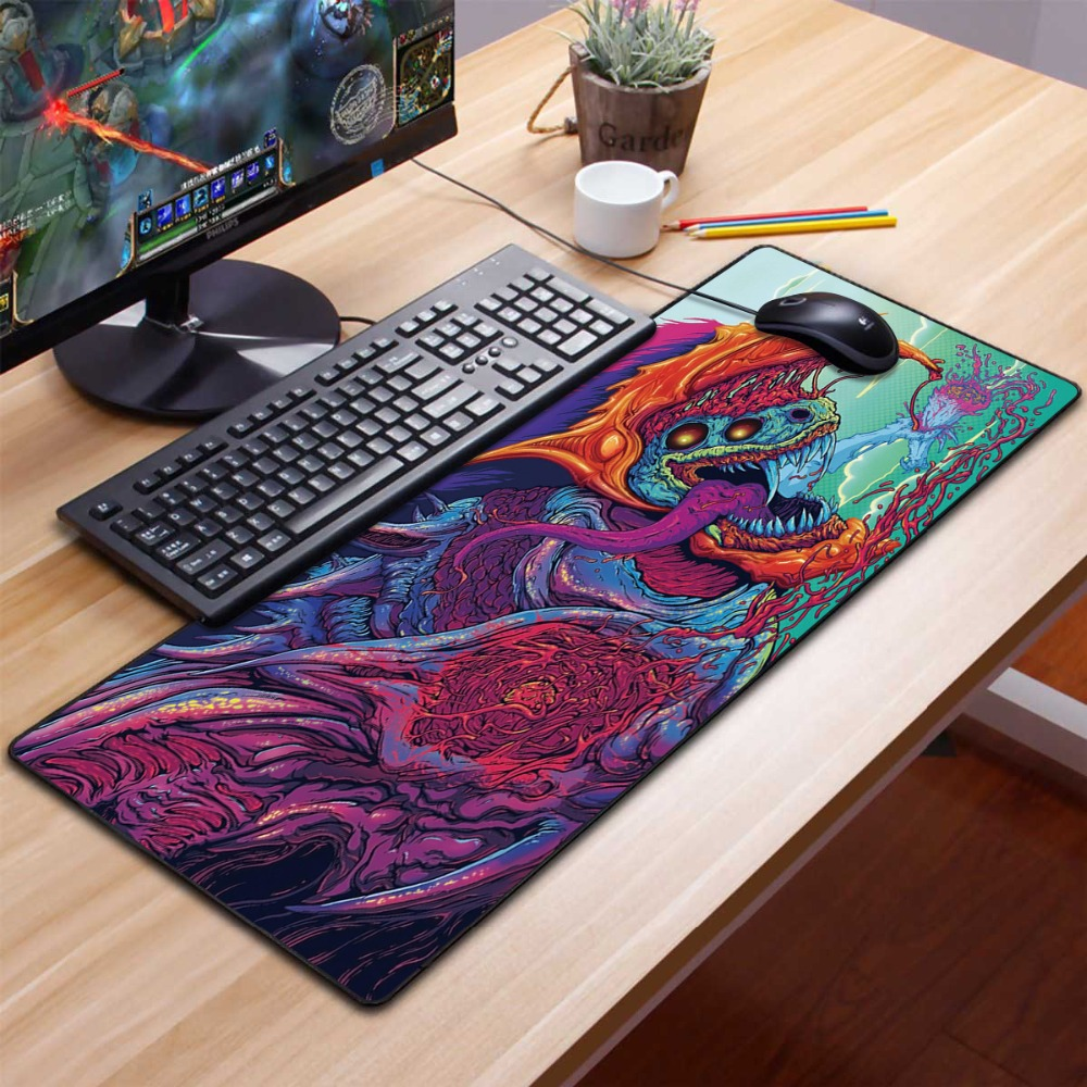 Mouse Pad Large Computer Gaming Pad 80x30cm Cs Go Keyboard Beast Desk Mat For Pc