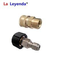 """Laleyenda 2 pçs kit adaptador de arruela de pressão m22 14mm & 15mm giratória para 3/8 quick connect conexão rápida 3/4 """"para g1/4 bocal de encaixe de liberação rápida"""