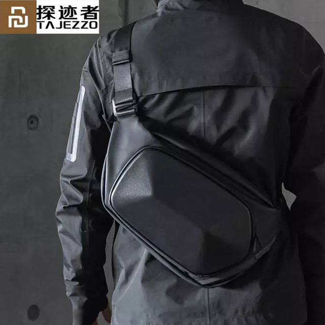 Сумка через плечо Youpin TAJEZZO для мужчин, мессенджер с защитой от кражи, водонепроницаемый нагрудник для коротких поездок