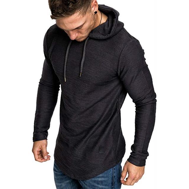 2021 New Men's Brand Pure Color Sweatshirt Fashion Men's Hoodie Spring Autumn Winter Casual Hoodie Men's Long Sleeve M-3XL 3