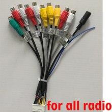 Cable de salida RCA para radio de coche Android, adaptador de micrófono subwoofer de 20 pines, cable universal para PX6