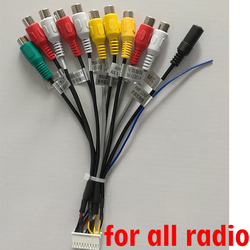 Android radio Car Accessories RCA Output Wire Aux-in subwoofer microphone Adapter 20Pin universal cable for PX6