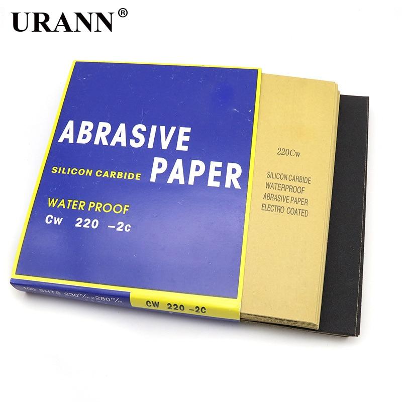 URANN 1pcs Wet/dry Waterproof Abrasive Sand Papers Sanding Paper Sandpaper Sheet Polishing Grit 60-2000#