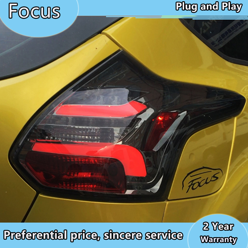Dynamic Video for 2012 2013 2014 year for <font><b>FORD</b></font> <font><b>Focus</b></font> 3 hatchback LED Strip Tail Lamp rear lights back light Red color TJ image