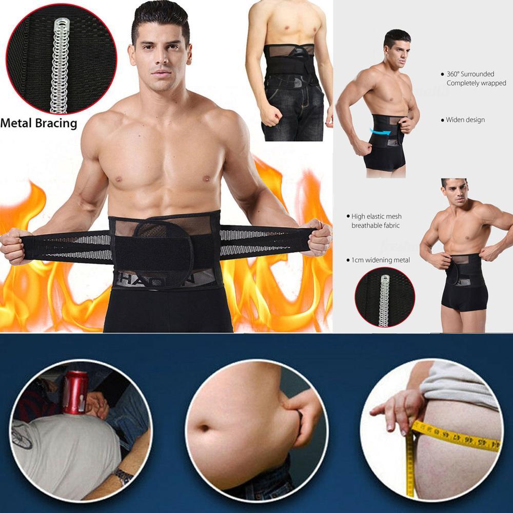 2019 Men&Women Tummy Belly Abdomen Trimmer Body Slimming Waist Belt Fat Burner Shape Corset Elastic Belt Cinturones Mujer