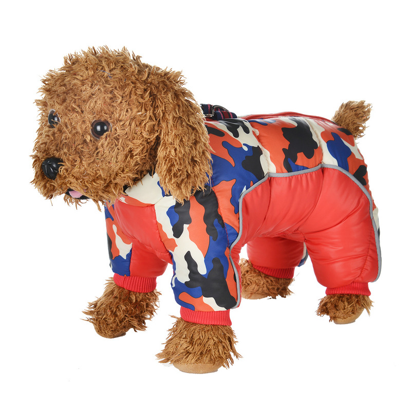 Reflective and Warm Dog Jacket and Waterproof Winter Dog Clothing with Strong Zipper and D-Ring 22