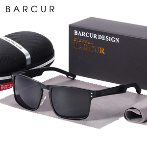 Image 5 - BARCUR באיכות אלומיניום כיכר משקפי שמש גברים מקוטבת גברים ספורט eyewear oculos דה סול feminino