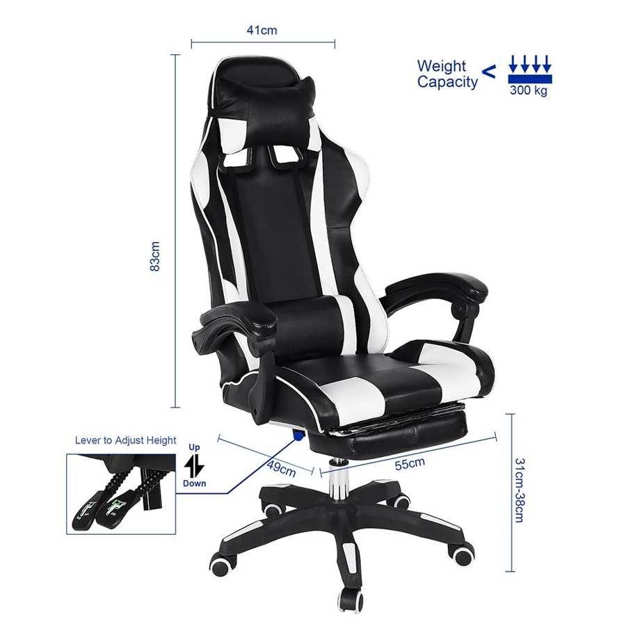 83x60x34cm Game Chair Adjustable E sports Chair Ergonomic Office computer chair Massage Waist Chair Electron Game Chair