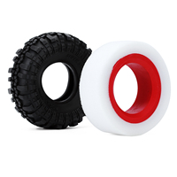 """INJORA Dual Stage TPE Foam 114-120mm 100-110mm Fit 1.9"""" Wheel Tires for RC Crawler Axial SCX10 90046 Traxxas TRX4 3"""
