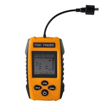 Portable Fish Finder Echo Sounder 100M Sonar LCD Echo Sounders Fishfinder Echo sounder for fishing New Cable sonar Fishfinder
