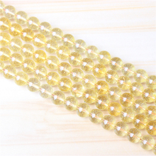 Citrine 4/6/8/10 mm Natural Stone Bead Round Bead Spacer Jewelry Bead Loose Beads For Jewelry Making DIY Bracelet Necklace