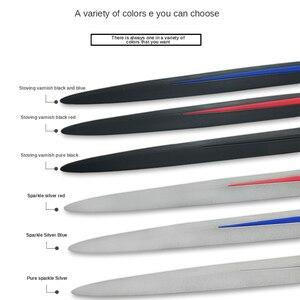 Image 5 - 4 adet evrensel tam siyah araba gövde/yan kapı anti çarpışma Anti scratch dekorasyon koruyucu yapışkan şerit araba Sticker