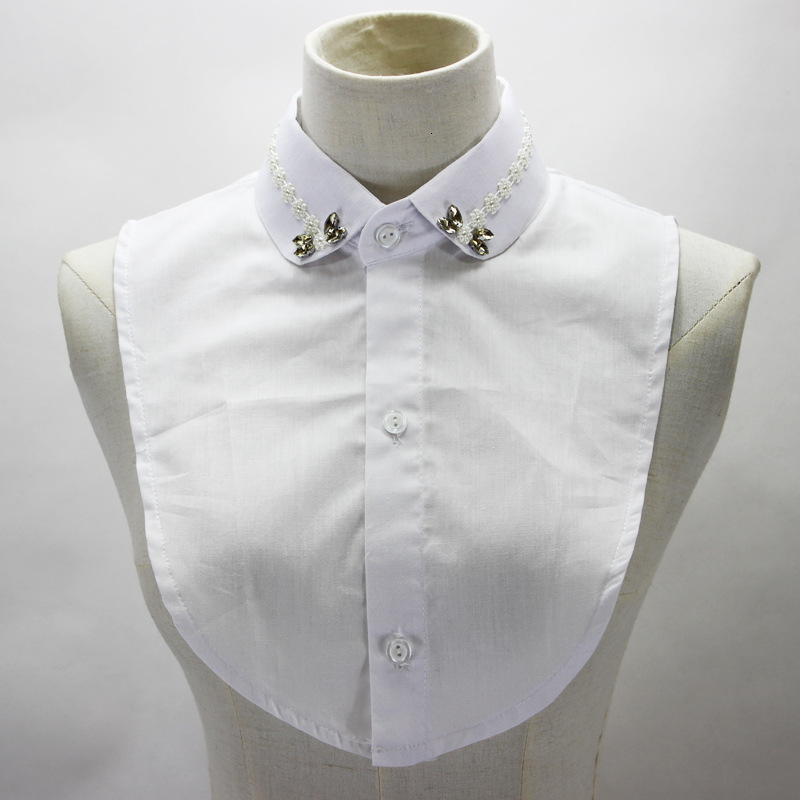 Concise Pearl Diamond Dickie Shirt Women Woman Lead Fake Collar Detachable New Free Shipping Wholesale