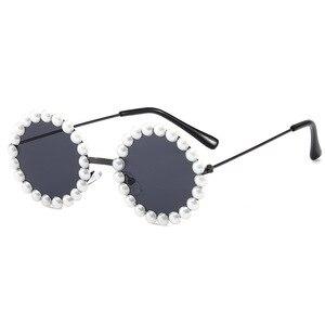 Image 5 - New retro round glasses box pearls B138 baby boomers joker sunglasses wholesale childrens sunglasses