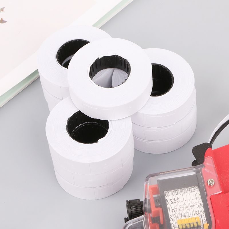B2RC 10 Rolls Price Label Paper Refill Tag Mark Sticker Double Row For MX-6600 Labeller