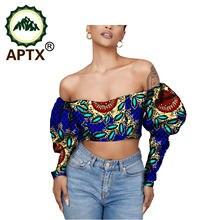 Африканская одежда для женщин с пышными рукавами Дашики Стиль